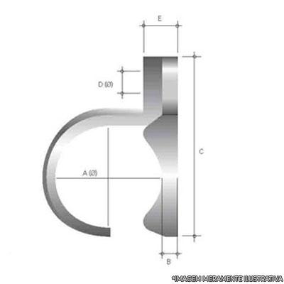 Abraçadeira de aluminio