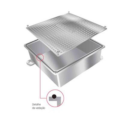 Caixa de passagem em aluminio