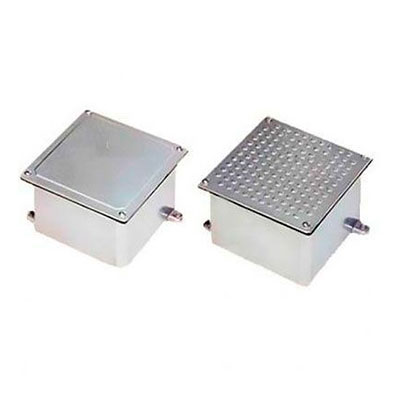 Caixa de passagem piso aluminio